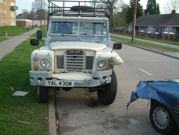 my land rover as if that wasn t bad enough this is what a stolen car did overnight on easter sunday